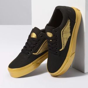VANS Harry Potter sneakers snitch gold black